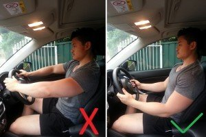 elbow position in car