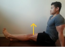 long sit hip flexion
