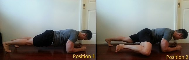 plank with side bend